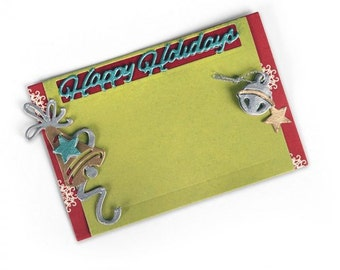 Sizzix Thinlits Dies - GIFT CARD HOLDER, Happy Holidays - 661553