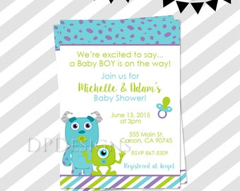 Monsters inc baby shower etsy monsters inc baby shower invitation filmwisefo