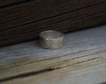 8mm Textured Matt Rivet Ring