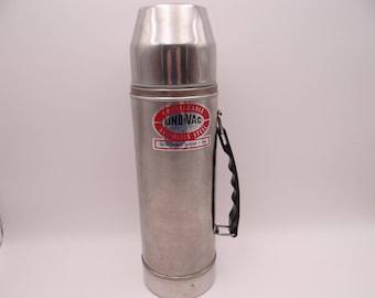 Vintage Industrial Uno-Vac 1QT Unbreakable Steel Thermos