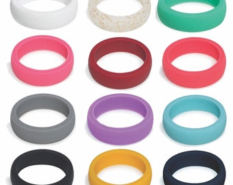 Big SALE Silicone Rings For Women, Women's Silicone Wedding Band Ring -Great for gym, sports, style, beach, engagement, active. Rubber Rings