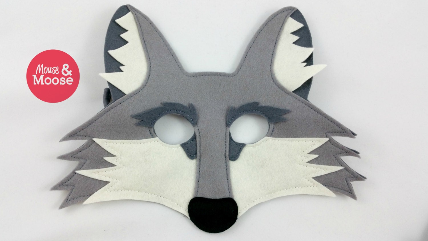 Wolf Mask or Coyote Mask for Pretend Play and Dress up 100%