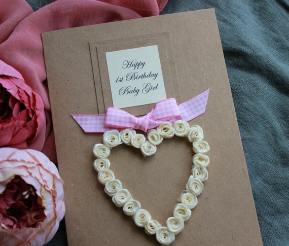1st Birthday Card For Daughter Granddaughter Son Or
