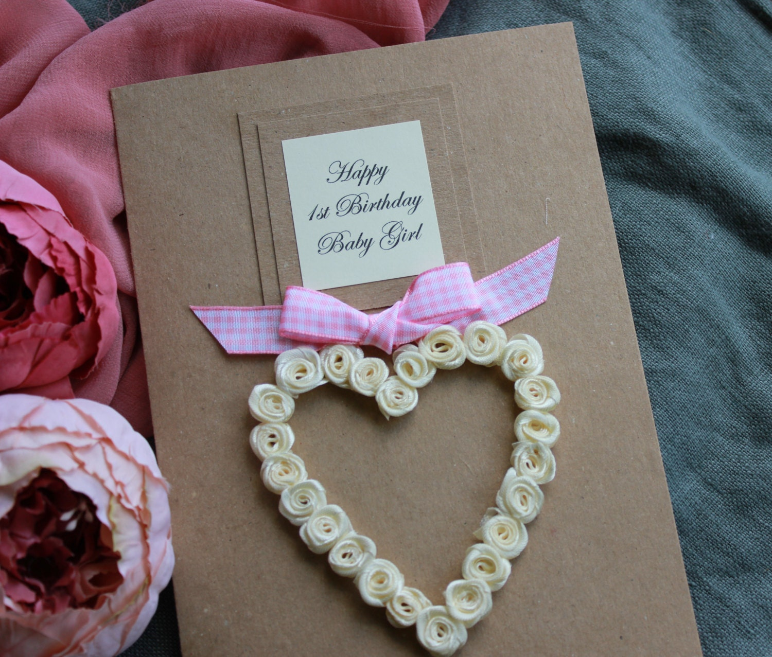 1st birthday card for daughter granddaughter son or zoom bookmarktalkfo Image collections