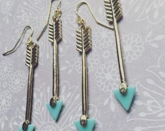 Arrow Earrings  -  Arrow Drop Earrings