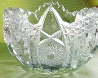 Die Jahrhundertwende gepresst Glas Schüssel 7,5 Zoll Antik