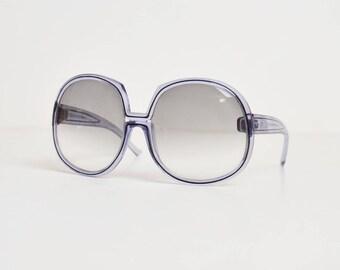 Vintage 70s Oversized Lavender Purple Sunglasses 1970s Shades