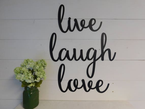 Live Laugh Love, Set Of 3 Metal Signs, Farmhouse Decor Signs, Metal Words, Word Art by Etsy