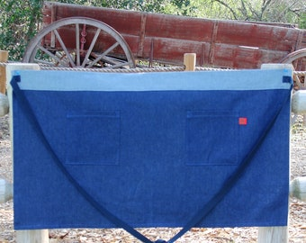 Custom Size 2 Pocket Rugged Half Apron Made to Order with 7 Color Options