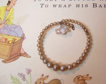 wee tiny pearl bracelet
