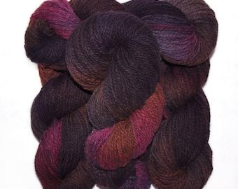 Hand dyed yarn - Alpaca / American wool yarn, Worsted weight, 240 yards - Ilyapa