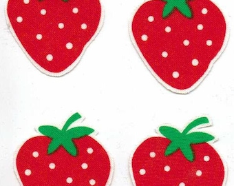 Strawberries - Iron On Fabric Appliques
