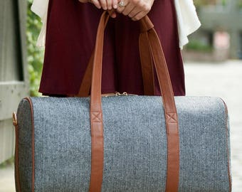 "SALE ""Irregular"" Townsend Wool Duffel Bag - Luggage, Overnight Travel Duffle Bag"