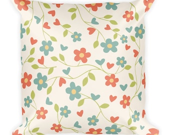 Flowers Square Art Pillow