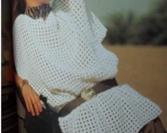 Crochet TOP Pattern Vintage 70s Crochet Bikini COVER UP Top crochet Blouse pattern Crochet tunic pattern