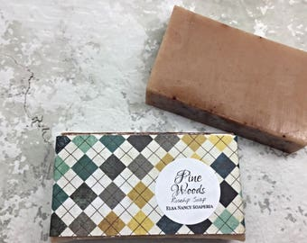 PINE CEDARWOOD Soap, Shea Butter Soap, Essential Oil SoapValentine's Day Gifts