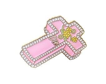 Communion Cake Lapel Pin