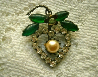 40's Heart Brooch
