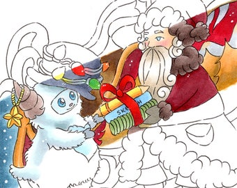 The Christmas Yeti Coloring Book - Intricate