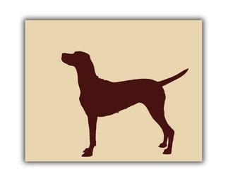 Vizsla Dog Art Print - Print, Vizsla Gifts, Dog Gift Ideas, Birthday Gifts, Dog Art Prints, Gift for Dog Lovers, Dog Wall Art