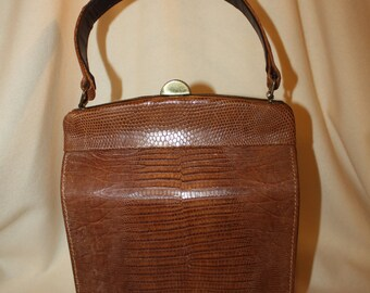 1950's - 60's Vintage Lizard Skin Pocketbook;  Item #304-AP