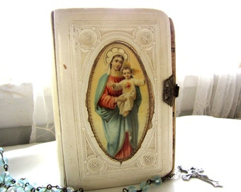 Antique Prayer Book  Celluloid German 1902 from AllieEtCie