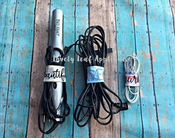 DIGITAL ITEM: ITH Cord Wrap Organizer Embroidery Design 4in, 5in, and 7in