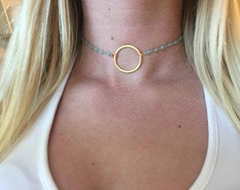 Gold Circle Choker