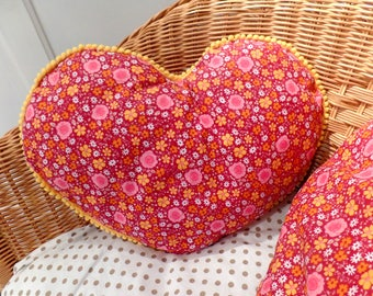 Hearts in sets of 2 cushions pillows