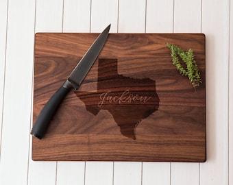 Texas cutting Board Housewarming Gift Wedding Gift Anniversary Gift Personalized cutting board, custom cutting board, couple cutting board