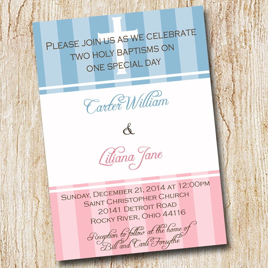 twin baptism invitations koni polycode co