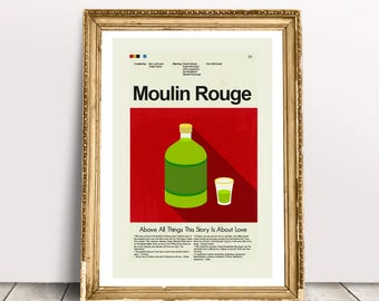 Moulin Rouge Mid-Century Modern Inspired Print
