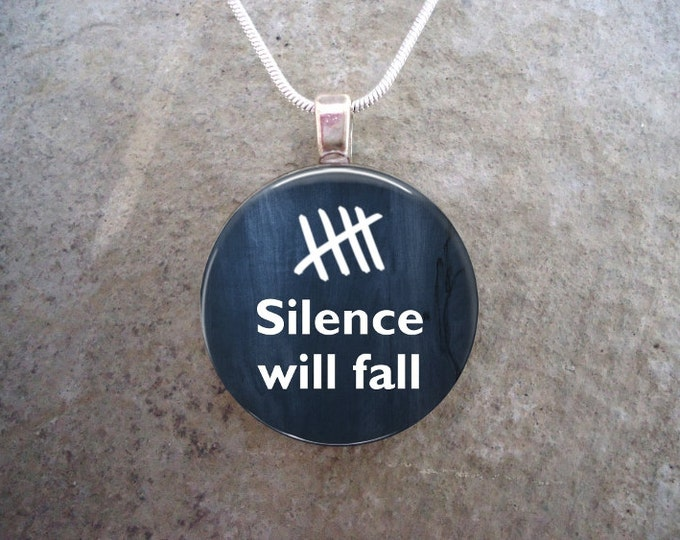 Doctor Who Jewelry - Silence Will Fall - Glass Pendant Necklace