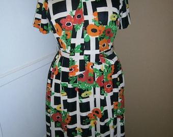 Vintage multi color 1960 dress by  The STROLLER