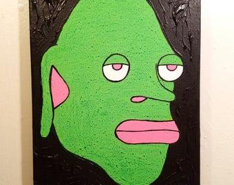 11 x 14 Alien Face Painting