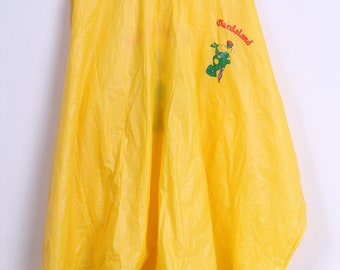 Bardaland Womens One Size Rain Coat Yellow PVC Poncho Hooded Jacket