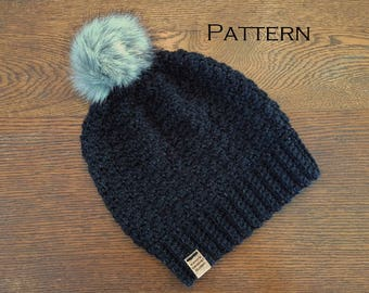 Crochet Beanie PATTERN Granite Bay Beanie Hat Pattern Only