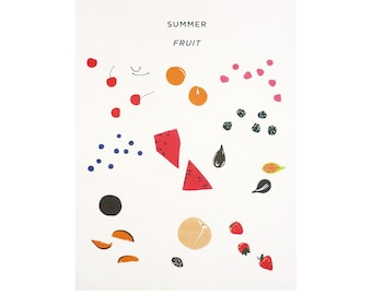 Summer Fruit Lithograph