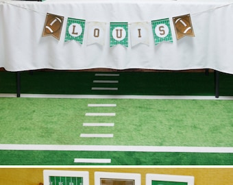 """Football Birthday Party Theme - Complete PERSONALIZED Printable Package (1st Birthday Photo Banner """"Rookie Year"""" add on available)"""
