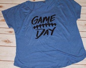 Game Day Shirt, Football Shirt, Womens Football Shirt, Game Day, Football Mom Shirt, Football T-Shirt, Football Girlfriend, Football,