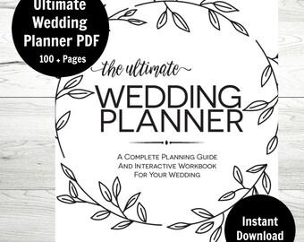 Wedding Planner, Printable Wedding Binder, Wedding Checklist, DIY Wedding Planner, Instant Download, Wedding Budget, Wedding Printable PDF