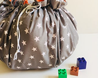 Lego Toy Storage, Lego Mat, Lay and Play Bag, Duplo Play Mat Bag, Lego Bag, Hot Wheels Storage, Christmas Lego. Unpersonalised:Choose Fabric
