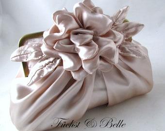 Blush Bridal Clutch, wedding clutch and Evening Purse - Gardenia Blush