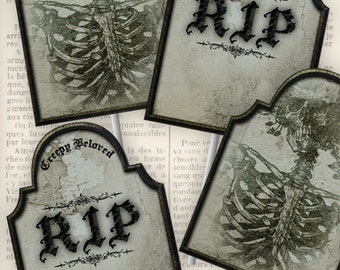 Tombstone Cupcake Toppers - VDCTHA0953