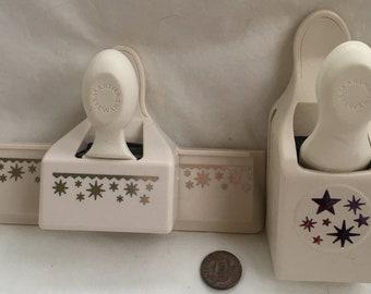 2 Martha Stewart STAR CONFETTI Border Edge Paper Punch Scrabooking Card Crafts SET Pair