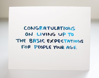 Funny High School Grad Card / Real Blue Foil