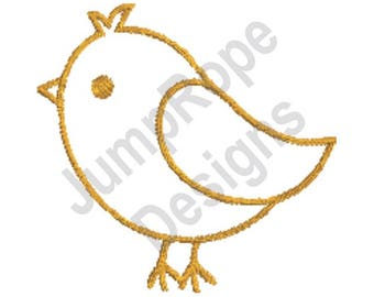 Cute Chick Outline - Machine Embroidery Design