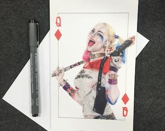 Harley Quinn Greeting Card