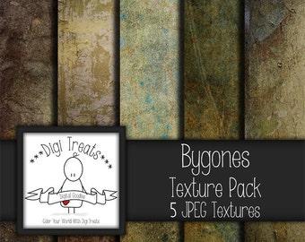 """5 Digital Textures, Bygones Textures, JPEG, Photography Textures, Scrapbook Paper, Backgrounds, 12""""x12"""" *Instant Download*"""
