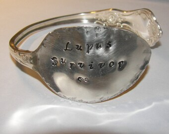 PERSONALIZED Bracelet, Spoon Bracelet, Lupus, Silverware Bracelet, Spoon Jewelry, Silverware Jewelry, Gift For Woman, Christmas, Birthday